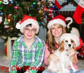 2013 Christmas Photo with my kids and Daisy - Candy C
