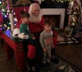 """Santa told these boys..""""remember I love you but most of all Jesus loves you"""" and then he kissed the boys heads. - Kathleen M"""
