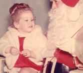 Visiting Santa early 1963-4   - Alyssa