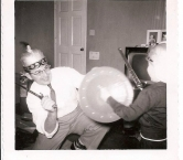 Dad and Steve Christmas Morning  - Richard L