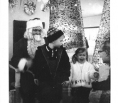 As you can see, I was petrified of Santa when I was 3… in 1966! Both my brother and Santa were not impressed. -Debbie F