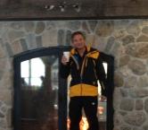 "Kenny at the ""Footloose"" ski run at Haystack Mountain  Black Diamond, of course."